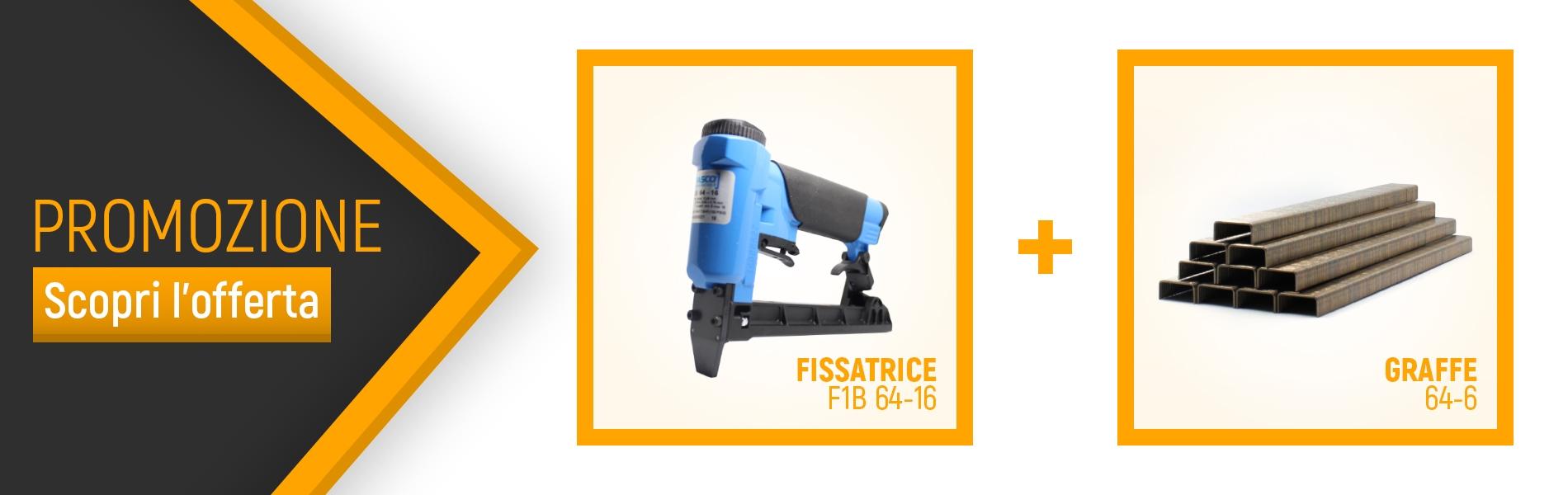 Tooleader - Fasco F1B 64-16 fissatrice + graffe 64/6